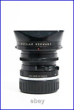 Leica M 28mm f/2.8 Lens ELMARIT-M Leitz Canada ver. II 1978 with original hood