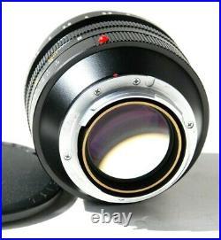 Leica Noctilux-M 50mm f/1.0 E60 Leitz Lens 11821 with Shade 12544, Caps, Exc