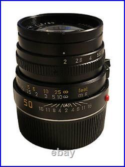 Leica SUMMICRON-M 50mm F/2 Lens LEITZ Black