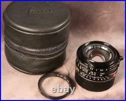 Leica Summicron-M IV 35mm F2 Leitz Canada with B&W filter, Rear Cap and Leitz Case