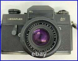 Leicaflex Leitz Sl 35mm Camera And Summicron-r Wetzlar 1.2 50mm Lens Old Vintage