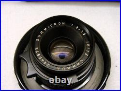 Leitz Canada Leica Summicron- M 12/35mm black 1a Sammlerstück RAR