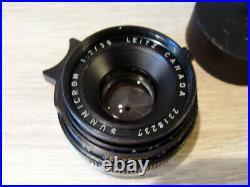 Leitz Canada Leica Summicron-M 2/35mm V III Lens Serviced 2018 OVP