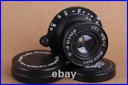 Leitz Elmar 3.5/50 mm RF M39 Lens LEICA Zeiss Eleitz Wetzlar Rangefinder Black