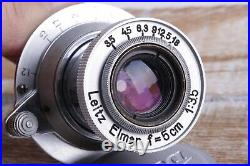 Leitz Elmar lens 3.5/50 mm RF M39 LEICA Zeiss Eleitz Wetzlar Silver
