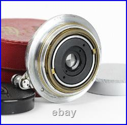 Leitz Hektor 6.3/2.8cm f/6.3 2.8cm Chrome M39 Screw Mount Boxed with Finder/Caps