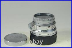 Leitz/Leica 35mm Summicron F2 lens, eight element, in pristeen condition