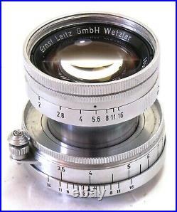 Leitz Leica 50mm f/2 Summicron collapsible lens LTM screw fit EXC++ #310002