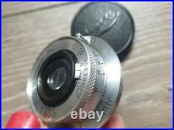 Leitz Leica Elmar 35mm f3.5 lens with original caps EKURZCHROM