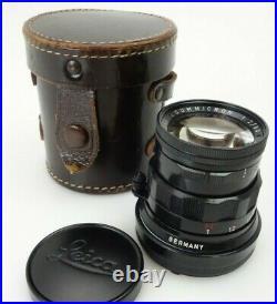 Leitz Leica Summicron 50mm f2 2093232 M Bajonett black paint jq122