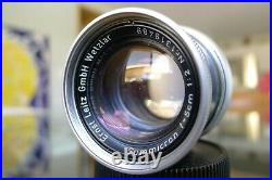 Leitz Leica Summicron M 50mm f/2 Coll lens Beautiful glass Exc User CLA'D 12/20