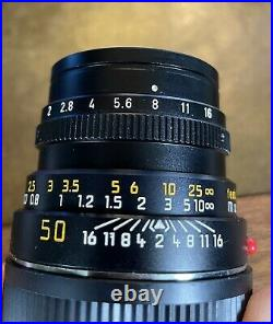 Leitz / Leica Summicron-m 50mm f/2 optics mint with case and hood