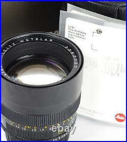 Leitz Summilux-R 1.4/80mm f/1.4 80mm mount Leica R No. 3267127 Boxed A+ 11880