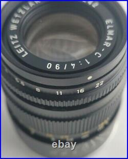 Leitz Wetzlar Elmar-C 90mm f4 lens in Leica M mount