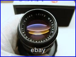 Leitz Wetzlar Leica Elmarit-M 12.8/90mm black Lens Made Germany RAR