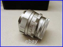 Leitz Wetzlar Leica Summicron- M 12/50mm silbern 1a Sammlerstück RAR