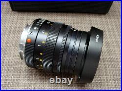 Leitz Wetzlar Leica Summilux-M 1.4/50mm black Lens Germany/ Hood RAR