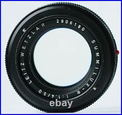 Leitz Wetzlar Leica Summilux-R f/1.4 50mm E48 1st ver. Germany withhood