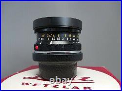 Leitz Wetzlar Leica Super Angulon 3.4/21mm Wide Angle Lens boxed