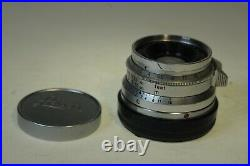 Leitz Wetzlar SUMMICRON 35mm F2 lens eight elements, M mount, due for cleaning