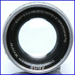 Leitz Wetzlar Summicron 5cm f/2 für Leica M Versenkbar // vom Händler
