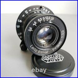 Lens LEICA Zeiss Leitz Elmar 3.5/50mm RF M39