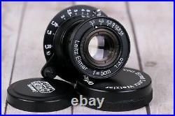 Lens Leitz Elmar 3.5/50 mm RF M39 Zeiss Eleitz Wetzlar, Rangefinder black