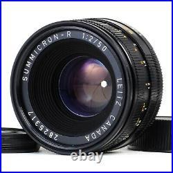 MINT- Leica Leitz Canada Summicron-R 50mm f2 E55 3-Cam R Mount Lens #5317