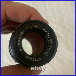 Minolta M-Rokkor 90mm f4 by Leitz Leica m mount for CL CLE US Seller NR
