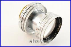 NEAR MINTLeica Leitz Summitar 5cm 50mm F/2 12 L39 LTM Screw Mount Lens JAPAN