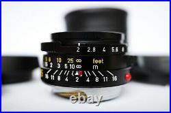 RARE LEICA LEITZ 12/35mm SUMMICRON-M 11310 BLACK PRE ASPH V4 BOKEH KING CASED