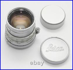 RARE LEITZ SUMMICRON 50/2 RIGID M39 LENS LEICA 50mm 12 LTM 1960