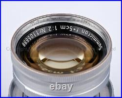 @RARE@ Leica Leitz SUMMICRON 5cm 50mm f2 50/2 RADIOACTIVE Yr. 1953 LTM L39