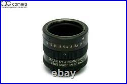 Rare Leica Leitz Elcan 25mm f1.4 C-Mount 16mm Cine Lens #29625