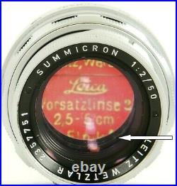 SUMMICRON f=5cm 12 LEITZ SOMNI CLOSE Focus LEICA-M DUAL Range Lens Made in 1969