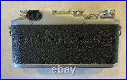 Vintage 1946 Ernst Leitz Wetzler DRP Leica IIIc camera with Summitar f/2 lens
